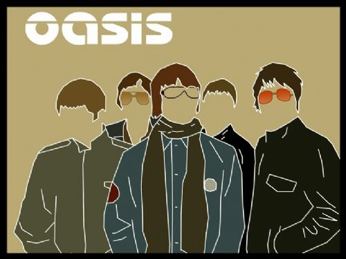 Oasis - band cut out art canvas print - self adhesive poster - photo print